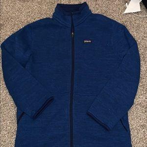 Boy's Patagonia navy full-zip Sweater